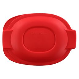 Plastic Lid 2.5-qt Oval Roaster, Red