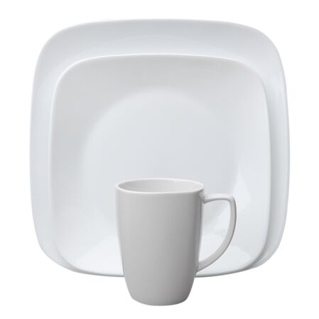 Square™ Pure White 16-pc Dinnerware Set w/ Bonus Bowls