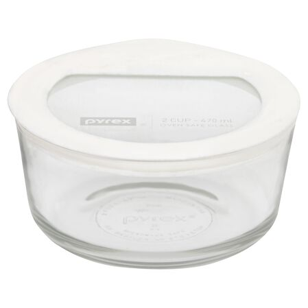 Ultimate 2 Cup Round Storage Dish, White