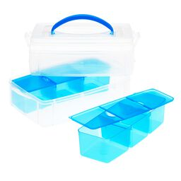 "Snap 'N Stack® 2 Layer 6"" x 9"" Storage Container w/ Divider Trays"