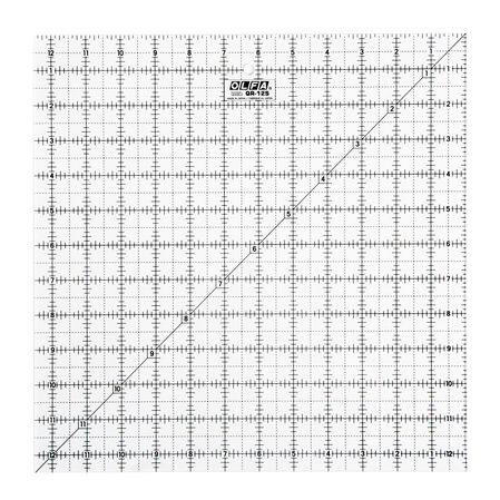 "12-1/2"" Square Frosted Acrylic Ruler (QR-12S)"