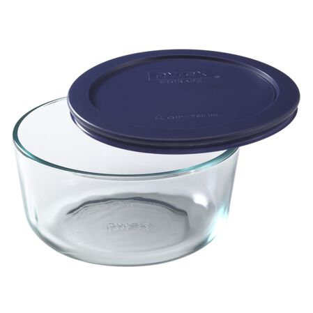 Simply Store® 4 Cup Round Dish w/ Blue Lid