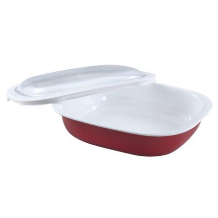 Bake, Serve, Store™ Red 2 Quart Oblong Bakeware Set