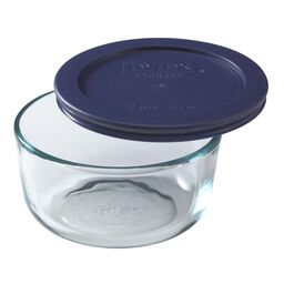 Simply Store® 2 Cup Round Dish w/ Blue Lid