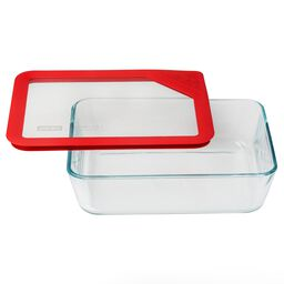 Ultimate 6 Cup Round Storage Dish, Red