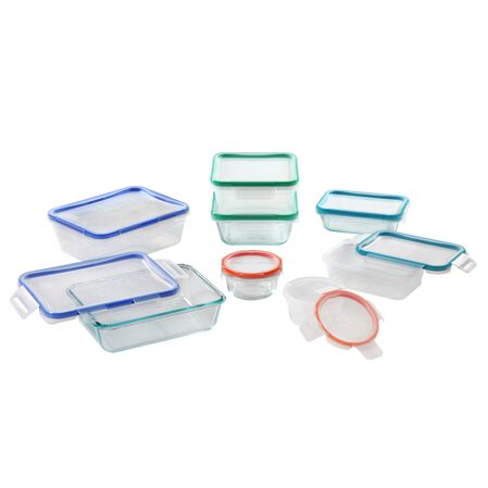 Total Solution™ Pyrex® Glass & Plastic Food Storage 16-pc Set