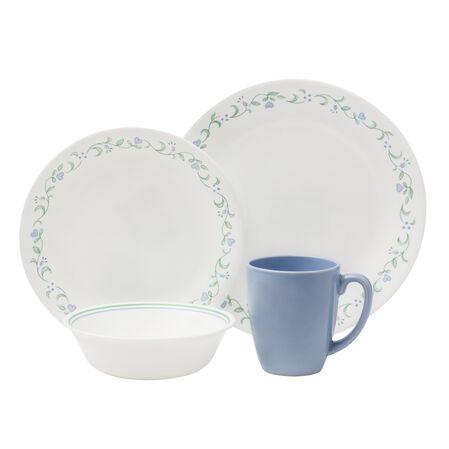 Corelle livingware country cottage 16 pc dinnerware set for Kitchen dish sets