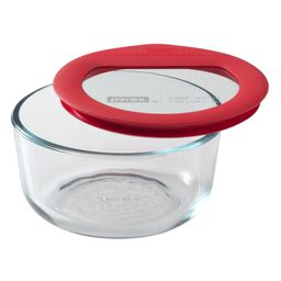 Ultimate 2 Cup Round Storage Dish, Red