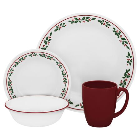Livingware™ Winter Holly 16-pc Dinnerware Set