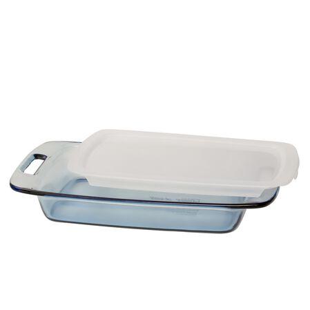Easy Grab™ Atlantic Blue 3-qt Oblong Baking Dish w/ Lid