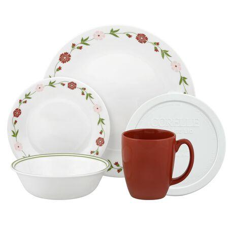 Livingware™ Spring Pink 20-pc Dinnerware Set w/ Lids
