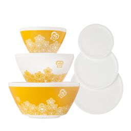 Golden Days 6-pc Mixing Bowl Set, inspired by Pyrex®