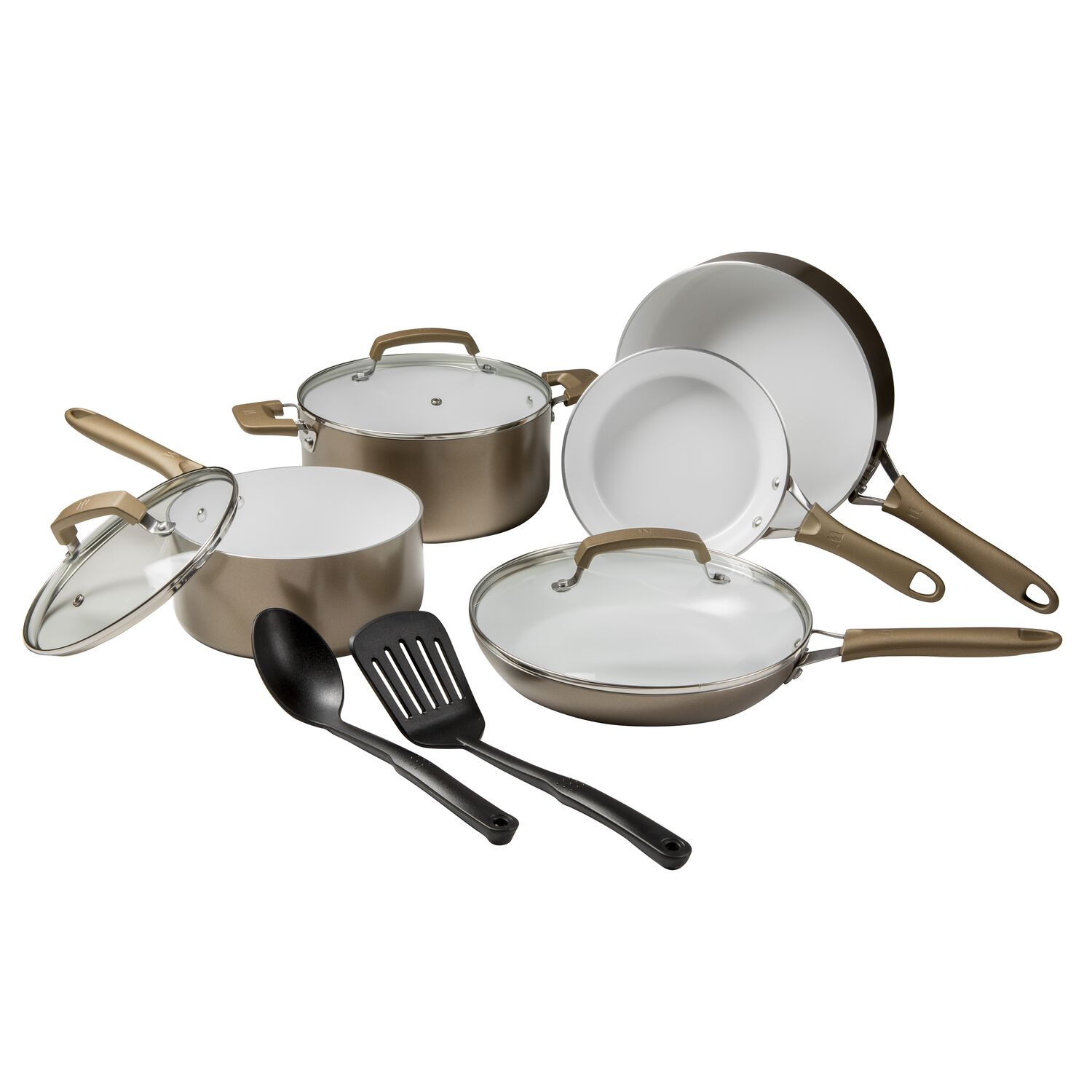 Wearever Pure Living Champagne Gold 10 Pc Cookware Set