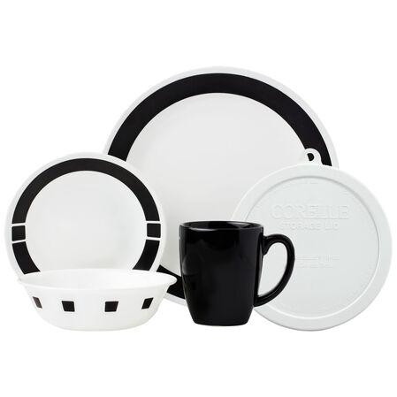 Livingware™ Urban Black 20-pc Dinnerware Set