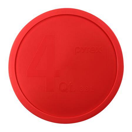 Pyrex 174 Plastic Lid 4 Qt Round Red Pyrex
