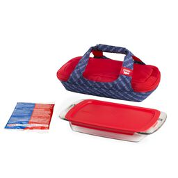 Portables® 100th Anniversary 4-pc Set, Red/Blue
