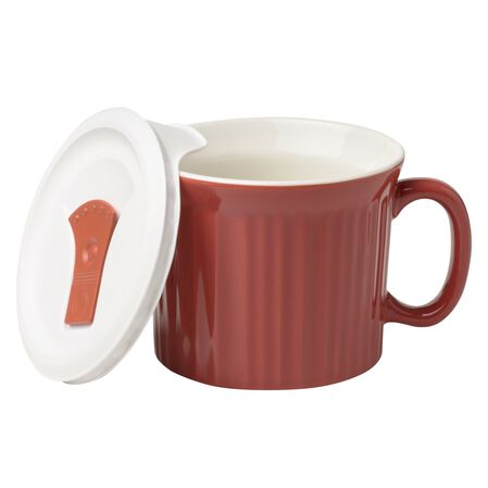 Colours® Pop-Ins® Red Clay 20-oz Mug w/ Vented Lid
