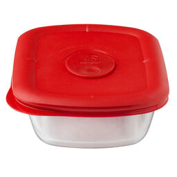Pro 1.875 Cup Rectangle Storage Bowl w/ Red Lid
