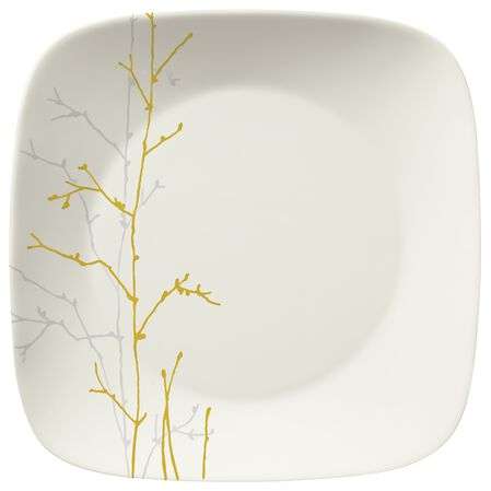"""Gilded Woods 10.5"""" Square Plate"""