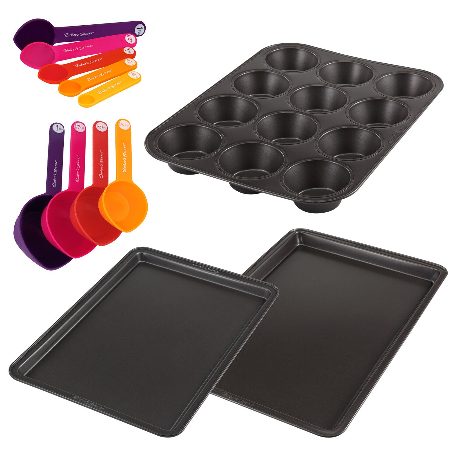 Baker's Secret 12-Pc Mixed Bakeware Set