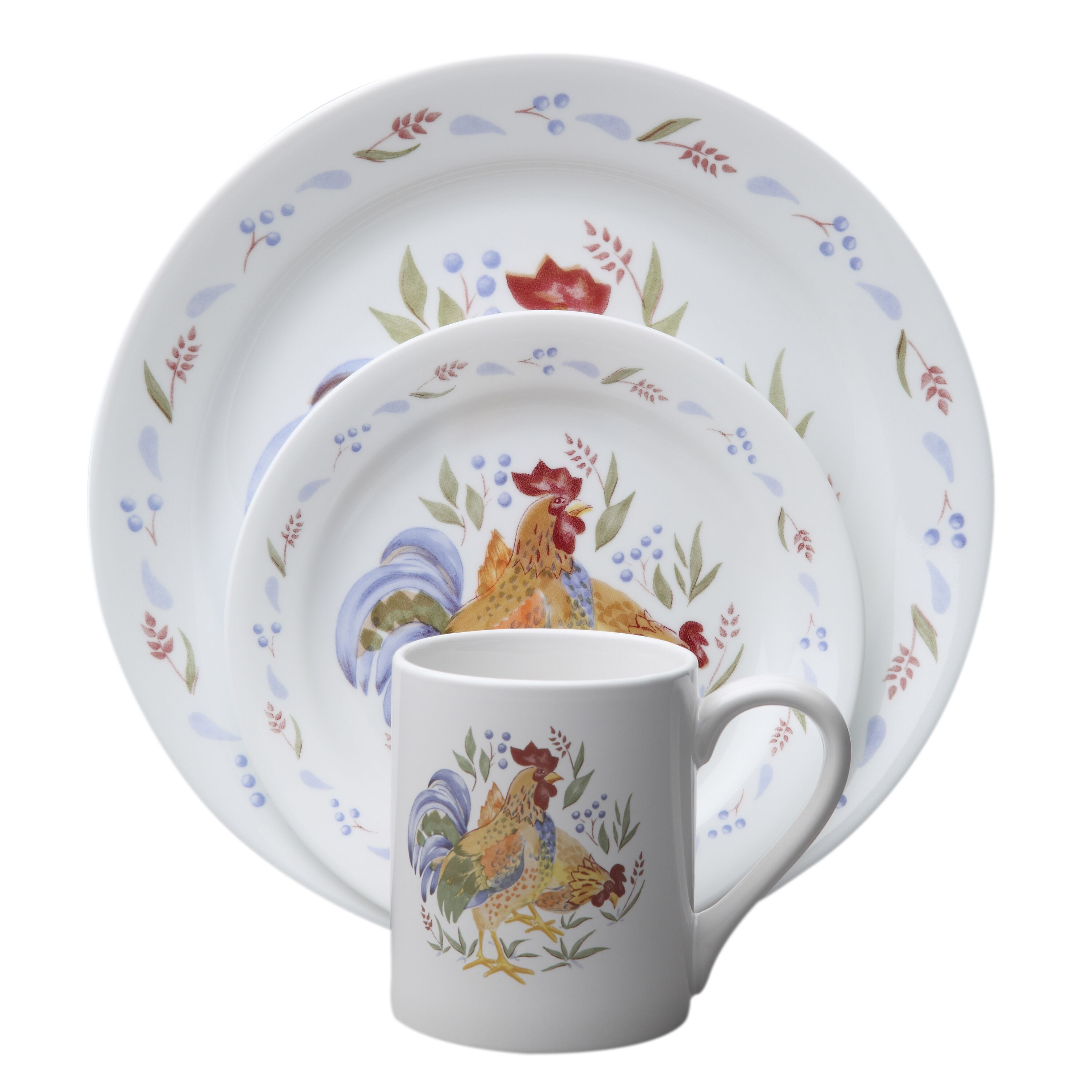 CORELLE Impressions Country Morning Rooster Thanksgiving