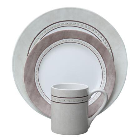Impressions Pewter 16 Pc Dinnerware Set