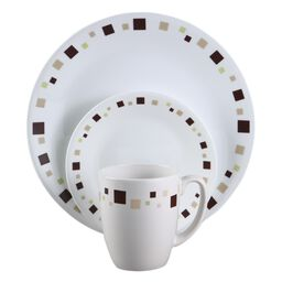 Livingware™ Geometric 16-Pc Dinnerware Set