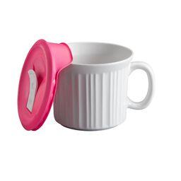 Corningware® French White® Pop-Ins® 20 Ounce Mug w/ Lid, Pink