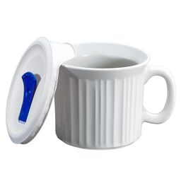 French White® Pop-Ins® 20 Ounce Mug w/ Vented Lid