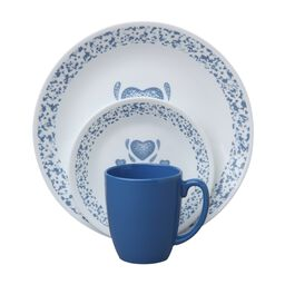 Livingware™ Blue Hearts 16-Pc Dinnerware Set