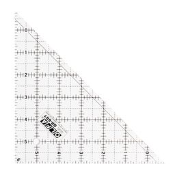 """6.5"""" Right Triangle Frosted Acrylic Ruler"""