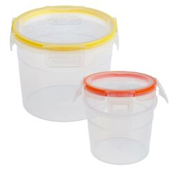 Total Solution™ Plastic 4-Pc Tall Round w/ Latch Locking Lids