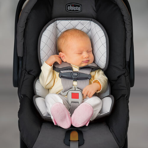 the KeyFit 30 Car Seat infant insert provides a better fit and head support for small newborn babies