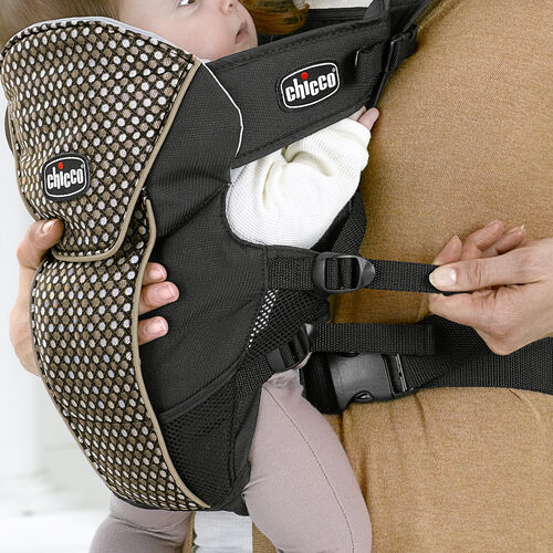 The side straps on the UltraSoft Infant Carrier can be adjusted for the perfect fit for your baby