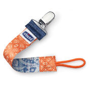 Chicco NaturalFit Fabric Pacifier Clip - Orange Fleur