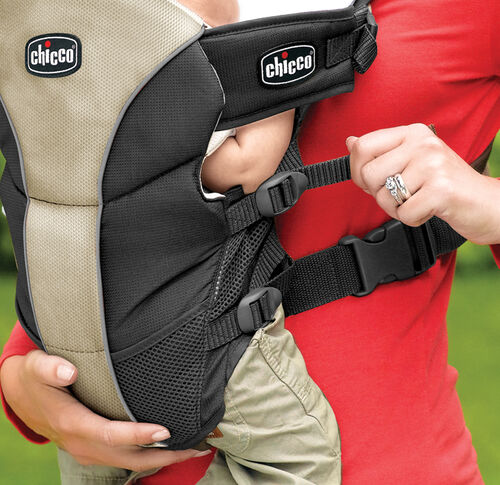 The UltraSoft Carrier straps can be adjusted to fit your baby as he grows