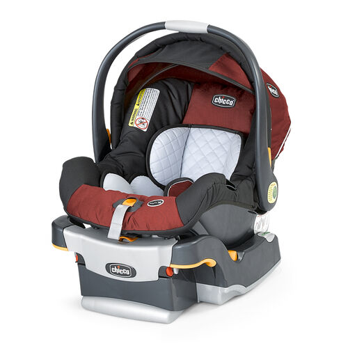 Chicco KeyFit 30 Infant Car Seat in burnt red-orange Element color
