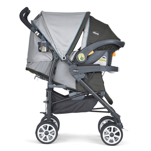Chicco Nuevo Stroller and KeyFit 30 Infant Car Seat as a travel system with extended canopy