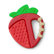 Chicco NaturalFit 4M+ Fruity Tooty Strawberry Teether is perfect for soothing baby's sore gums during teething
