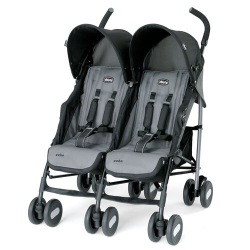 Chicco Echo Twin Stroller - Double Stroller available in coal gray and black