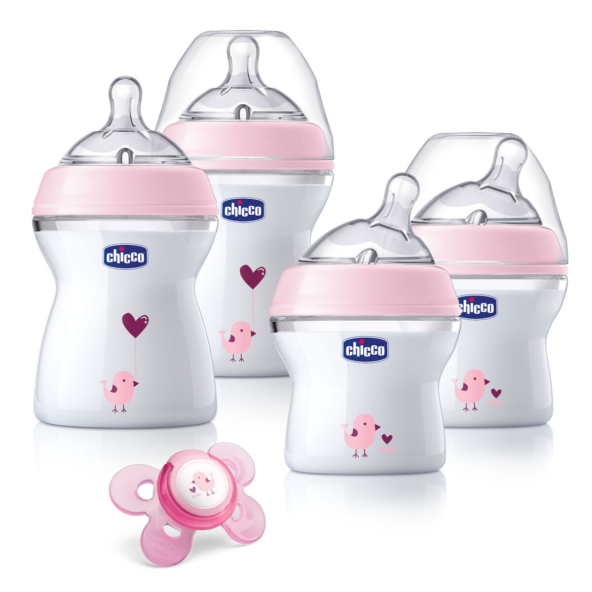 Chicco Chicco Naturalfit Newborn Gift Set Pink Deco