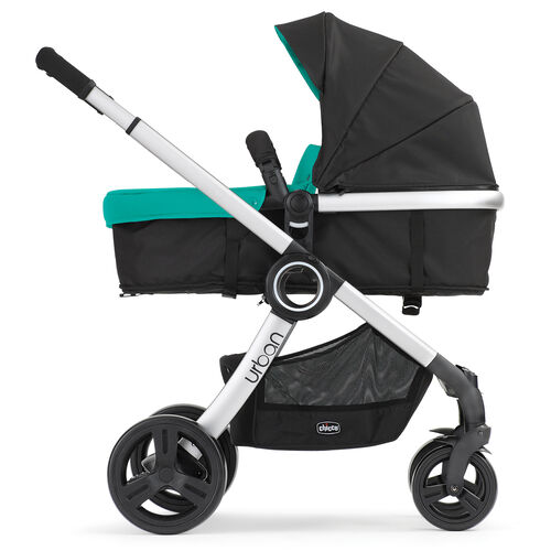 Rear-facing bassinet configuration for the Chicco Urban 6-in-1 Modular Stroller