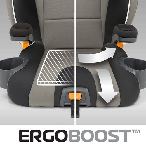 Contoured and padded booster car seat provides support for your child in all the right places