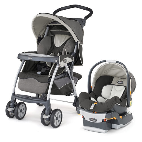 Chicco Cortina Stroller and KeyFit 30 Infant Car Seat and Base - Chicco Cortina SE travel system perseo - dark brown-gray - Chicco 10840 model