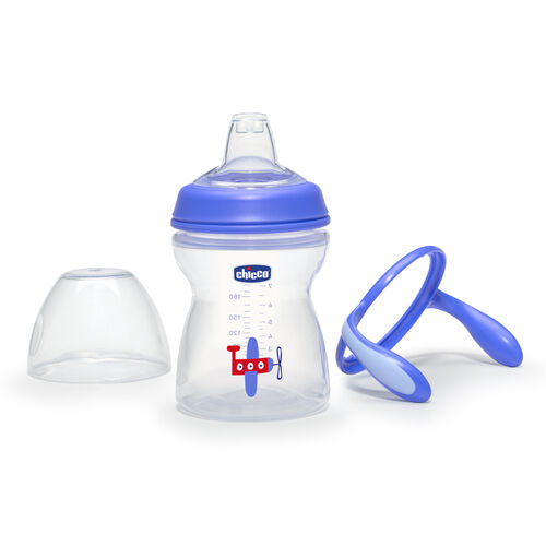 The handles on the NaturalFit Transition Cup can be removed and are compatible with any NaturalFit Baby Bottle