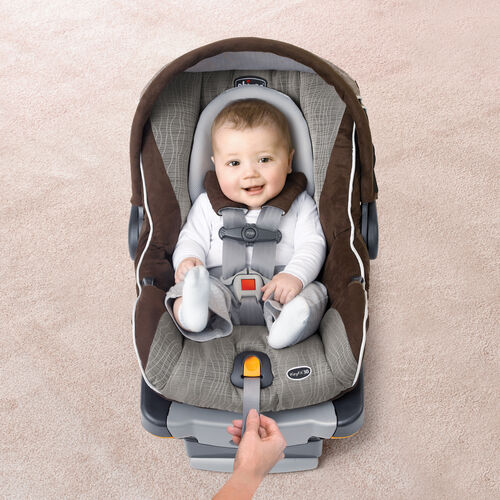 Easy adjust the straps on baby's KeyFit 30 Magic Infant Car Seat