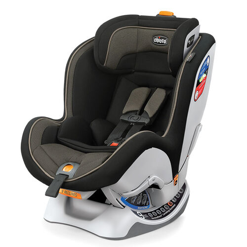 Chicco NextFit Convertible Car Seat in black with dark grey textured fabric accents - Matrix style