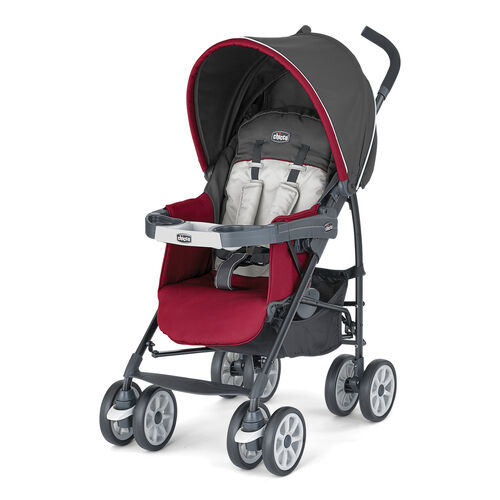 Chicco Neuvo Lightweight Stroller in dark gray and ruby red - Granita Style