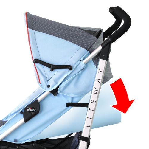 Find the most comfortable position for baby with the Liteway Stroller's fully reclining backrest