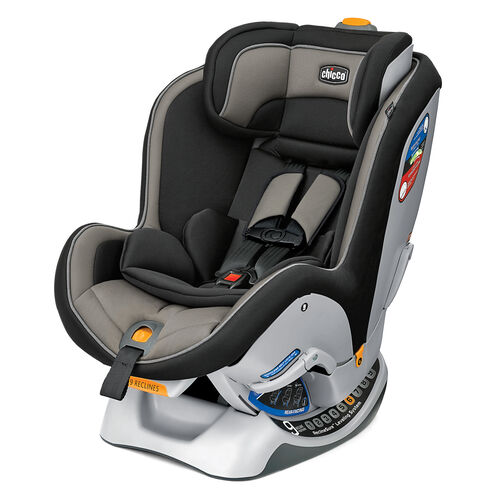 Chicco NextFit Convertible Car Seat in black with beige gray accents - Gemini Style